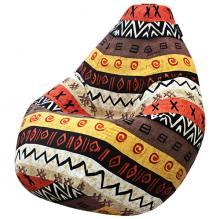 Кресло мешок груша SUPER BIG African Symbols