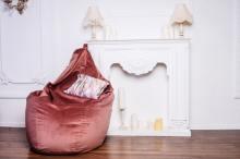 Кресло мешок груша SUPER BIG Silk Shine 34