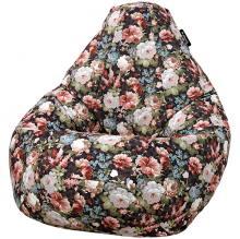 Кресло мешок груша SMALL Flores Brown