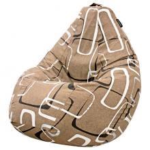Кресло мешок груша SMALL Geometria Brown