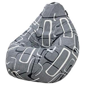 Кресло мешок груша BIG Geometria Grey