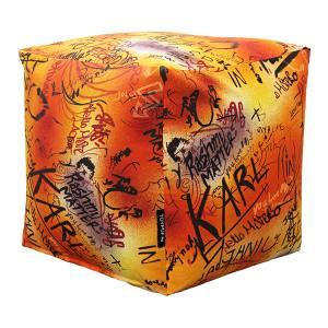 Внешний чехол для пуфика Graffiti Orange