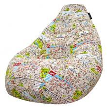 Кресло мешок груша SMALL London Map