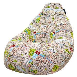 Кресло мешок груша SUPER BIG London Map