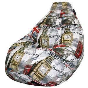 Кресло мешок груша BIG London Mix