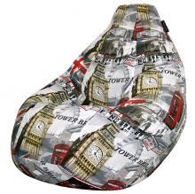 Кресло мешок груша SMALL London Mix