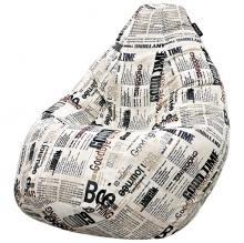 Кресло мешок груша SMALL Newspaper