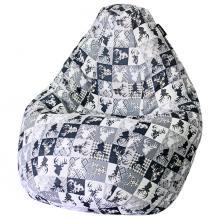 Кресло мешок груша BIG Oleni Blue