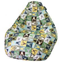 Кресло мешок груша BIG Oleni Green