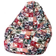 Кресло мешок груша SMALL Oleni Red