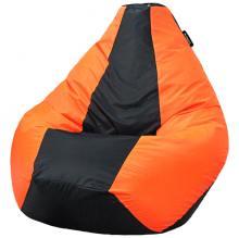 Кресло мешок груша SMALL Oxford Black vs Orange