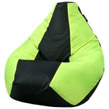 Кресло мешок груша SMALL Oxford Black vs Viridian