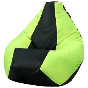 Кресло мешок груша BIG Oxford Black vs Viridian