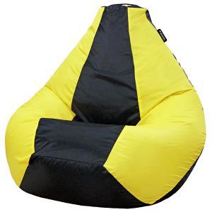 Кресло мешок груша SMALL Oxford Black vs Yellow