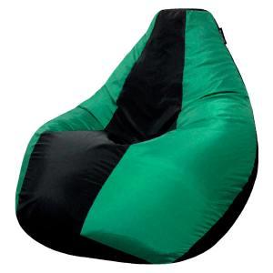 Кресло мешок груша SMALL Oxford Black vs Mint