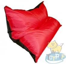 Кресло подушка Oxford Black vs Scarlet