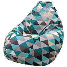 Кресло мешок груша SMALL Rombus Blue