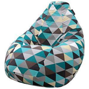 Кресло мешок груша SUPER BIG Rombus Blue