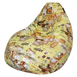Кресло мешок груша SUPER BIG Safari Map